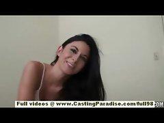 Nikki Daniels amateur brunette teen having fun in the bed