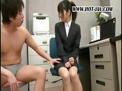 Japanese office sluts get on with some kinky office shenanigans