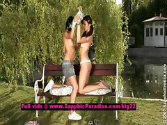 Tawnee and Helen lesbo teen girls undressing