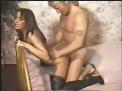 German girl in black boots gets drilled deep by her boyfriend