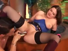 Latex gloves girl and friend kinky sex