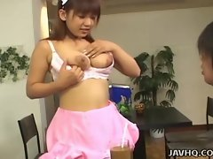 Sexy huge tit Japanese office slut in action!