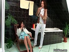 Two horny brunette Euro babes love part6