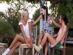 Three russian sapphic babes fingering