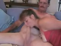 Tattooed amateur wife rides her hubby