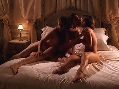 Erotic lesbian threesome filmed by a guy