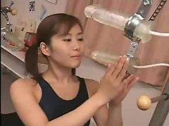 Fake cum rains down on Japanese girl