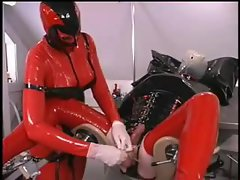 Latex femdom with CBT