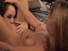 Seduction of her pussy in lesbian scene