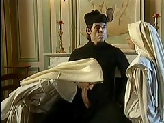 Naughty nun can take a fisting in her snatch