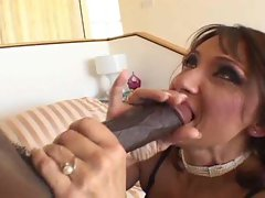 Drilling the lingerie mature with his dick