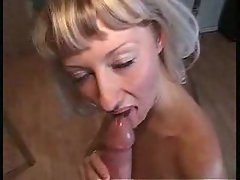 Gangbang whore loves cum in her ass
