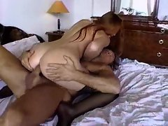 Horny girl in black stockings fucked in her ass