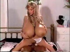 Horny huge tits pornstar boned by lover