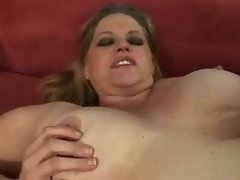 Shaved fat girl taking black cock