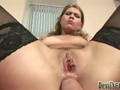 Her ass is fucked raw by a big cock