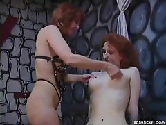 A hot spanking for the redheaded slave slut