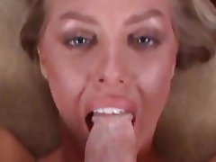Beautiful blonde giving a slow and sensual blowjob