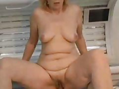 Mature pussy filled with stiff dick