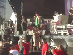 Topless Girl Dancing at Perth Soundwave 2012