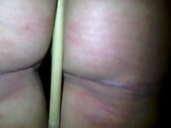 Wife in Corner time after good caning