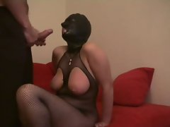 Hooded slave tortured