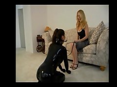 Latex Lesbian Domination and Humiliation pt 3