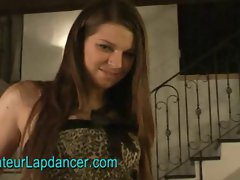 Wild czech teen Monika does sexy strip and lapdance