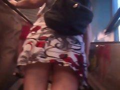 Upskirt Escalator 5 - Milf Has Nice White Panties
