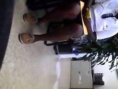 Upskirt at Dentist office