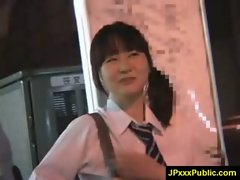 Hot Young Japanese babes Fuck In Public video-32