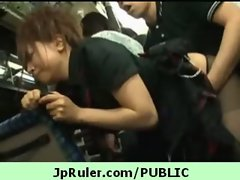 Horny japanese girl gets fucked in public video 8