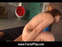 Sexy Japanese Teens Take Nasty Facial Cumshots 17