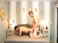 Bareback cock fucking for this gay couple