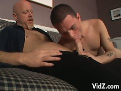 Horny old man fucks some nice hot young cock