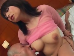 Busty milf babe loves fucking two hard cocks