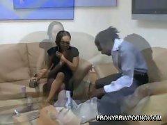 Ebony bbw mone divine sucks big black cock