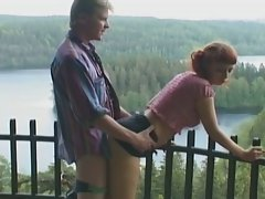 Teen babe fucked by her lover in outdoor !