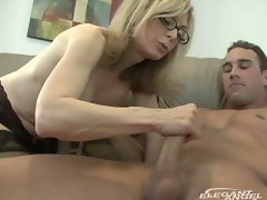 It's a mommy thing with lovely blonde milf for huge young cock