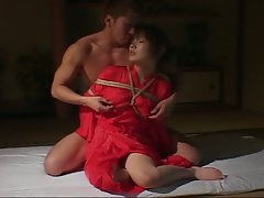 Japanese bondage with red hot princess