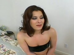 Milf whore slams big dick inside her hole