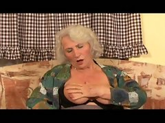 Horny granny fucked by a young stud