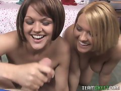 Lucky guy gets to fuck hot sisters