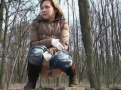 Madlena was walking in a spring forest and drinking beer. Indeed, she...