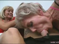 These two cock hungry granny blonde bitches are starving for young...