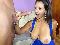 Young Billy loves masturbating to his hot milf neighbor Persia Minor....