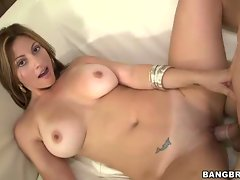 Huge real tits on this Latina girl, Lisa. Not only does she have...