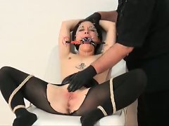 Slavegirl Mei in bondage action and heavy needle session...