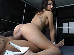 A slutty beautiful girl gets fucked by Nacho Vidal...