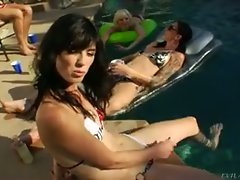 Bonus look at horny tranny's cocks getting sucked underwater...